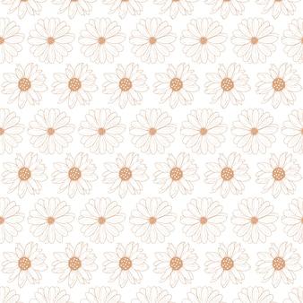Plantilla de patrón abstracto floral