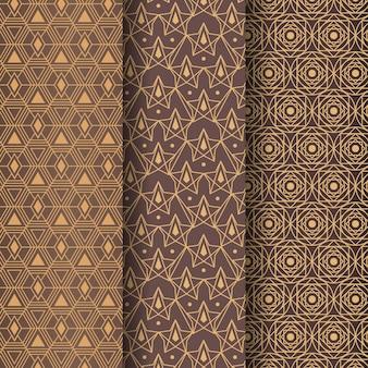 Plantilla de patrón art deco de formas geométricas