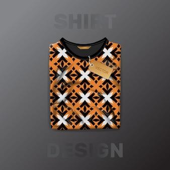 Plantilla de patrón de camisa