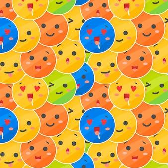 Plantilla de patrón de capas de emoticonos