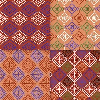 Plantilla de patrón sin costuras songket tradicional