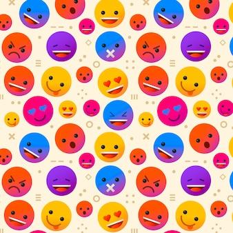 Plantilla de patrón de emojis y formas
