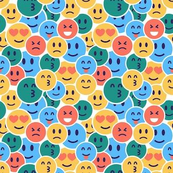 Plantilla de patrón de emoticonos ocultos