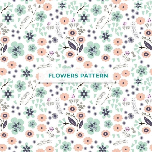 Plantilla de patrón de flores