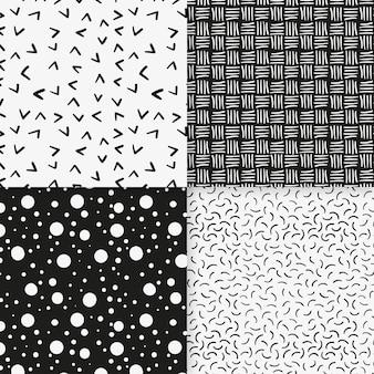 Plantilla de patrón geométrico mínimo de líneas y puntos
