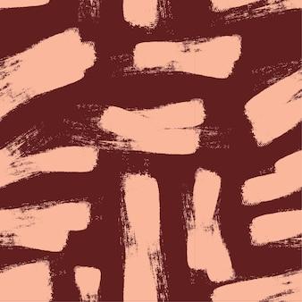 Plantilla de patrón de líneas aleatorias de trazos de pincel