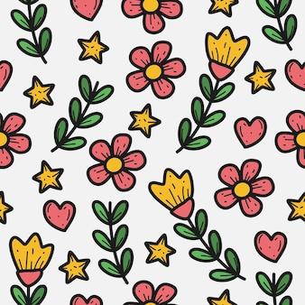 Plantilla de patrón de planta de flor