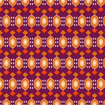 Plantilla de patrón de songket tradicional