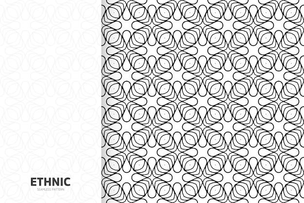 Plantilla de patrón transparente monocromo étnico ornamental