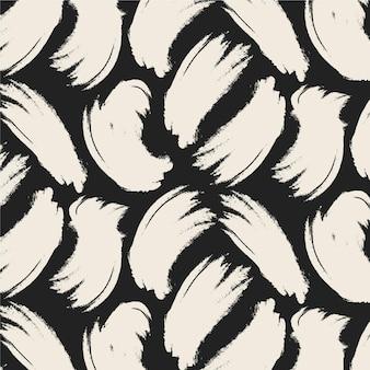 Plantilla de patrón de trazos de pincel blanco