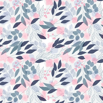 Plantilla de patrones sin fisuras florales de color pastel