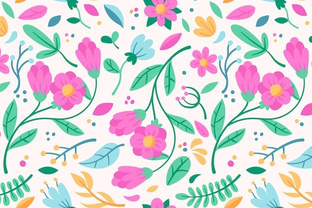 Plantilla de patrones sin fisuras florales rosa