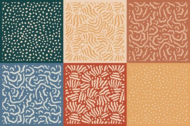 Plantilla de patrones sin fisuras de líneas coloreadas