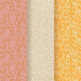Plantilla de patrones sin fisuras de líneas de colores pastel