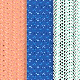 Plantilla de patrones sin fisuras de ondas y líneas