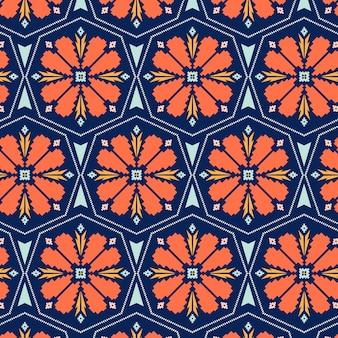 Plantilla de patrones sin fisuras de songket floral