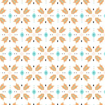 Plantilla de patrones sin fisuras de songket de puntos y formas