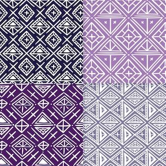 Plantilla de patrones sin fisuras de songket violeta pastel
