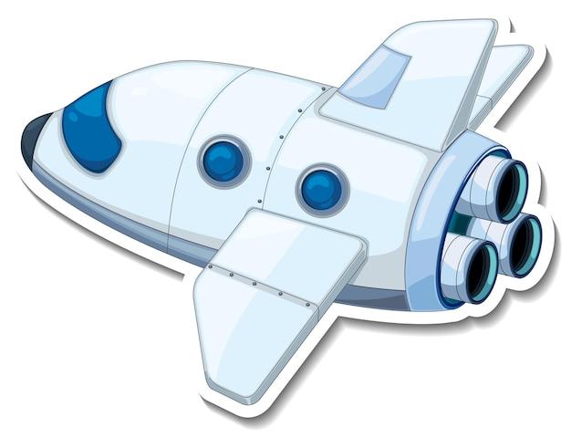 Una plantilla de pegatina con un avión aislado.