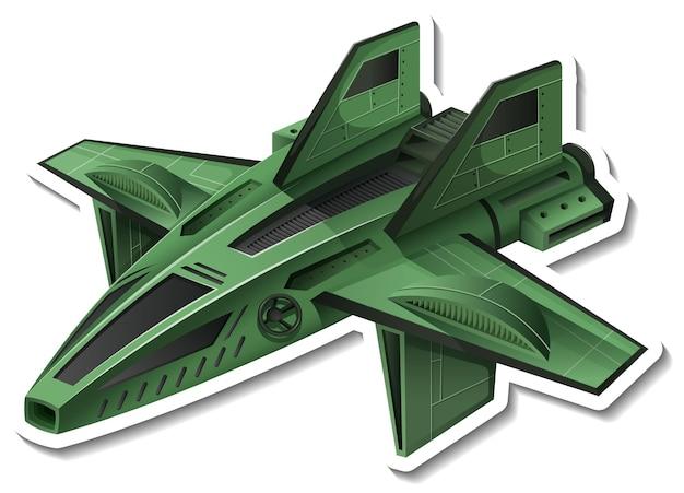 Una plantilla de pegatina con un avión de combate aislado.