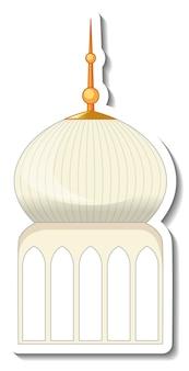 Una plantilla de pegatina con el edificio de la mezquita aislado.
