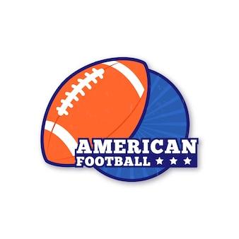 Plantilla de pelota de rugby de fútbol americano