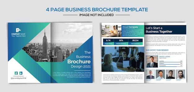 Plantilla de perfil comercial de empresa creativa