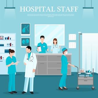 Plantilla de personal médico