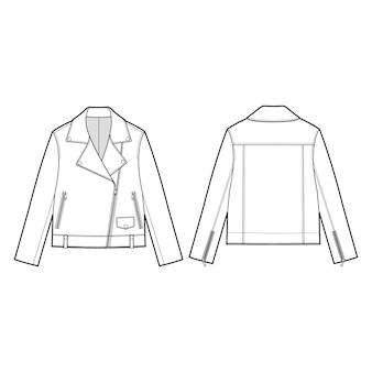 Plantilla de pisos de moda de chaqueta de cuero