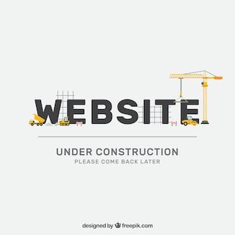 Plantilla plan en construcción