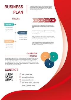 Plantilla de plan de negocios vector gratuito