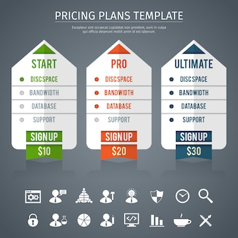 Plantilla de plan de precios
