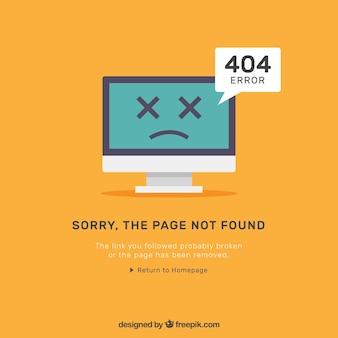 Plantilla plana de error 404