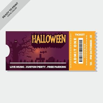 Plantilla plana de entradas de halloween