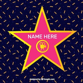 Plantilla plana de la estrella de la fama
