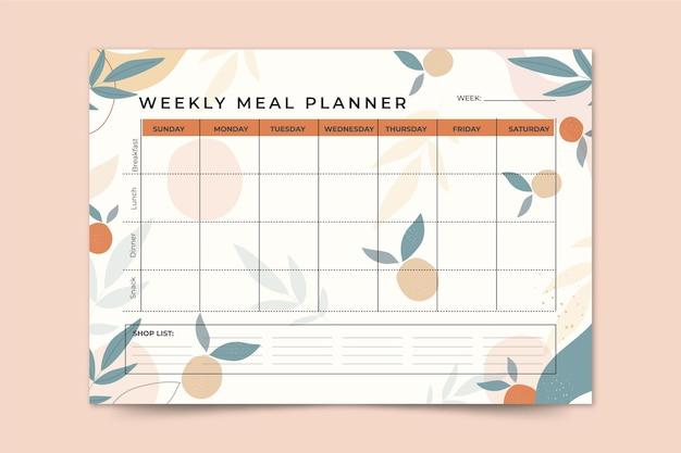 Plantilla de planificador de comidas