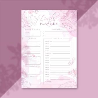 Plantilla de planificador diario