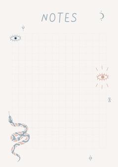 Una plantilla para planificadores simples y listas de tareas pendientes con ilustraciones en colores pastel.