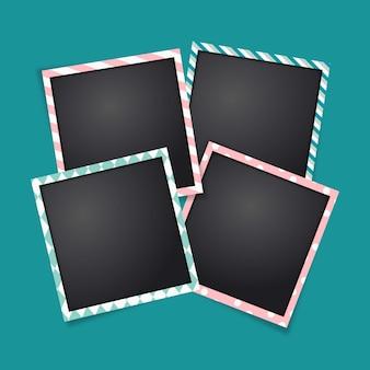 Plantilla polaroid frames
