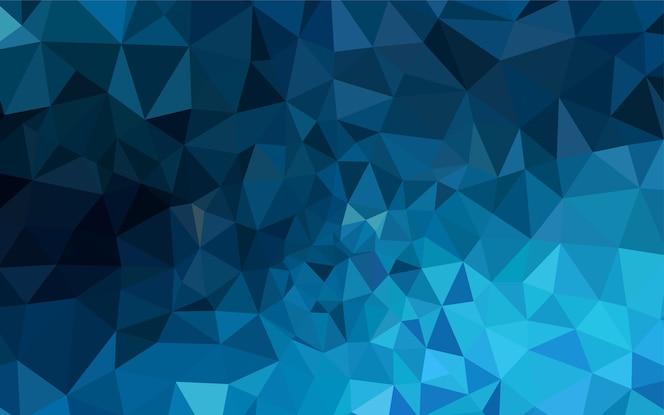 Plantilla poligonal abstracta del vector azul oscuro.