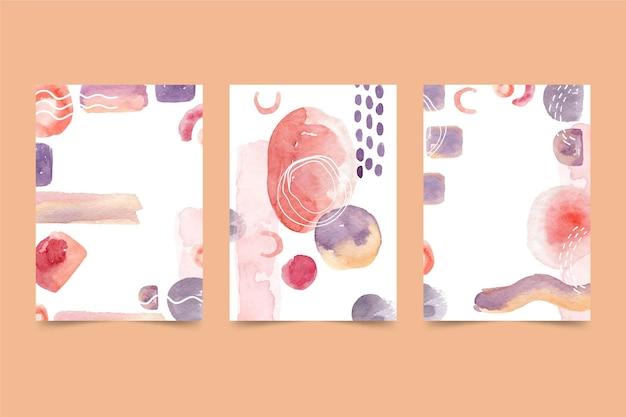 Plantilla de portada de acuarela abstracta