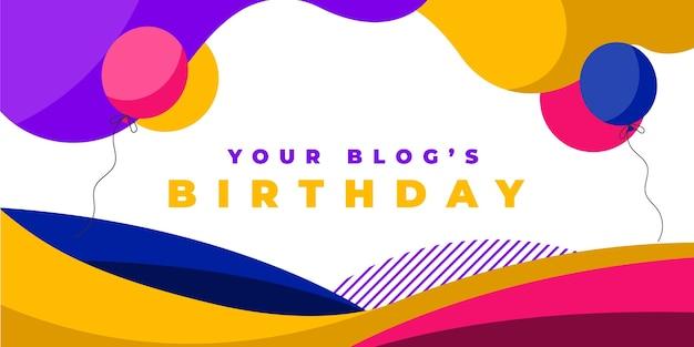 Plantilla de portada de blog de cumpleaños