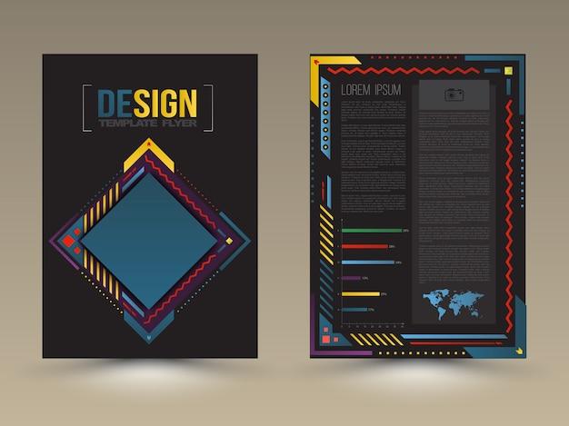 Plantilla de portada y cartel de folleto