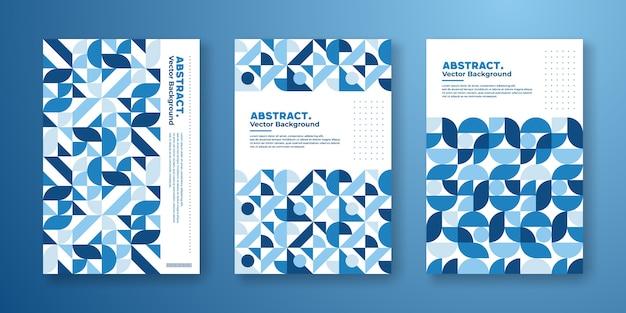 Plantilla de portada con diseño bauhaus geométrico abstracto