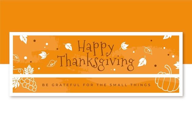 Plantilla de portada de facebook de acción de gracias