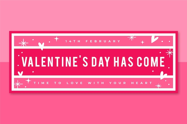 Plantilla de portada de facebook del día de san valentín de cuadrícula