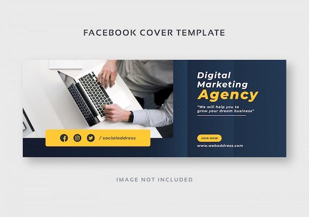 Plantilla de portada de facebook de marketing digital empresarial