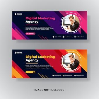 Plantilla de portada de facebook de marketing empresarial