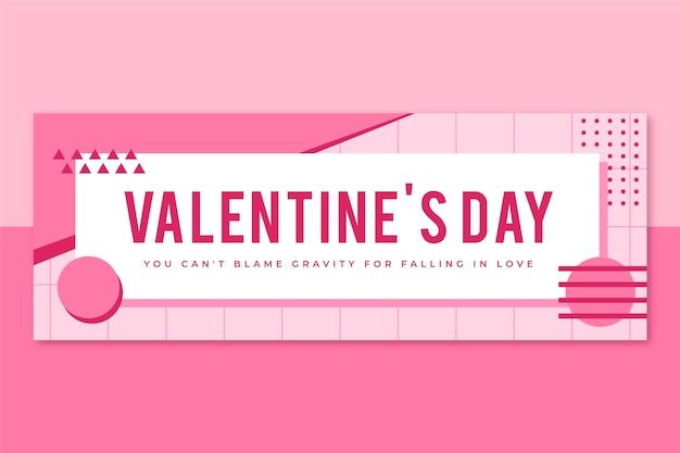 Plantilla de portada de facebook de memphis valentines day