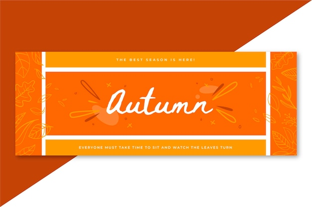 Plantilla de portada de facebook de otoño